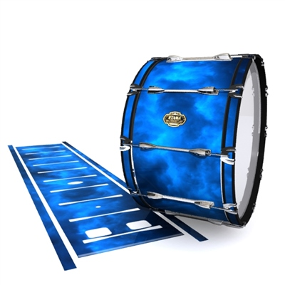 Tama Marching Bass Drum Slip - Blue Smokey Clouds (Themed)