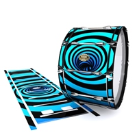 Tama Marching Bass Drum Slip - Blue Vortex Illusion (Themed)