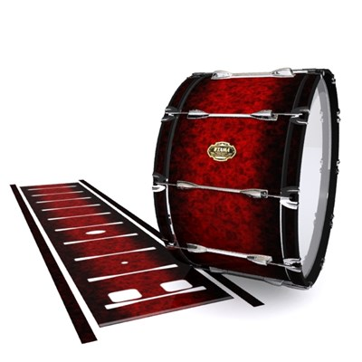 Tama Marching Bass Drum Slip - Burning Embers (red)