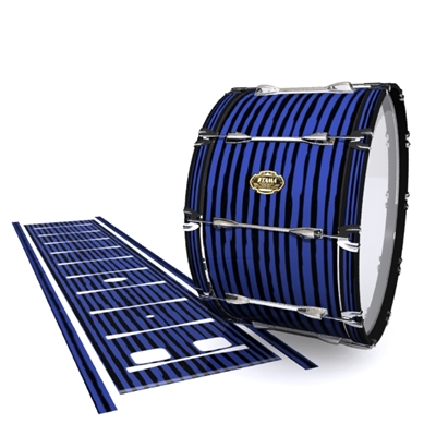 Tama Marching Bass Drum Slip - Lateral Brush Strokes Navy Blue and Black (Blue)