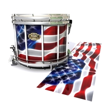 Tama Marching Snare Drum Slip - Stylized American Flag