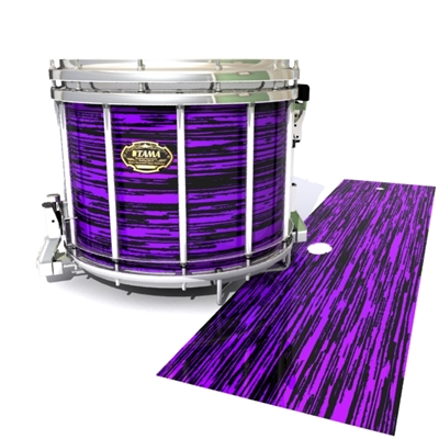 Tama Marching Snare Drum Slip - Chaos Brush Strokes Purple and Black (Purple)