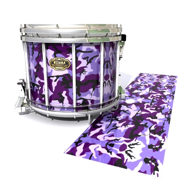 Tama Marching Snare Drum Slip - Coastline Dusk Traditional Camouflage (Purple)