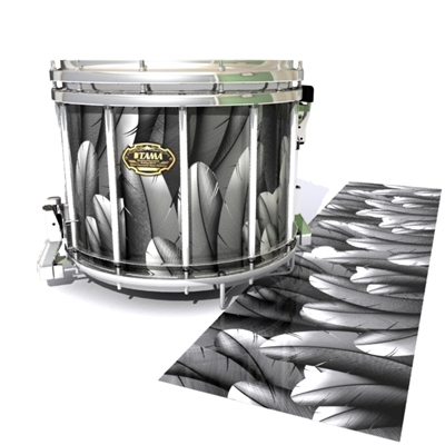 Tama Marching Snare Drum Slip - Grey Feathers (Themed)