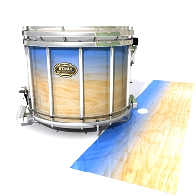 Tama Marching Snare Drum Slip - Maple Woodgrain Blue Fade (Blue)