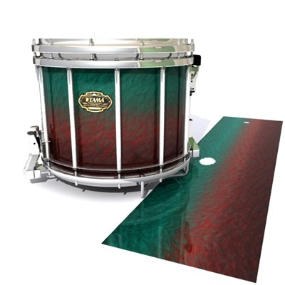 Tama Marching Snare Drum Slip - Red River Fade (Red) (Aqua)