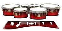 Tama Marching Tenor Drum Slips - Active Red (Red)