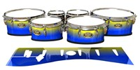 Tama Marching Tenor Drum Slips - Afternoon Fade (Blue)