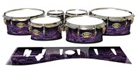 Tama Marching Tenor Drum Slips - Alien Purple Grain (Purple)
