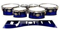 Tama Marching Tenor Drum Slips - Andromeda Blue Rosewood (Blue)