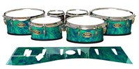 Tama Marching Tenor Drum Slips - Aqua Cosmic Glass (Aqua)