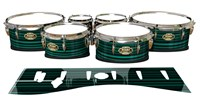 Tama Marching Tenor Drum Slips - Aqua Horizon Stripes (Aqua)