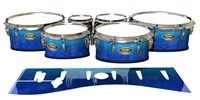 Tama Marching Tenor Drum Slips - Aquatic Blue Fade (Blue)