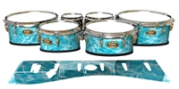 Tama Marching Tenor Drum Slips - Aquatic Refraction (Themed)