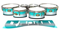 Tama Marching Tenor Drum Slips - Aqua Wake (Aqua)
