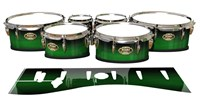 Tama Marching Tenor Drum Slips - Asparagus Stain Fade (Green)
