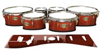 Tama Marching Tenor Drum Slips - Autumn Fade (Orange)