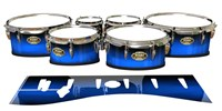 Tama Marching Tenor Drum Slips - Azure Stain Fade (Blue)