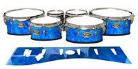 Tama Marching Tenor Drum Slips - Blue Cosmic Glass (Blue)