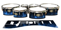 Tama Marching Tenor Drum Slips - Blue Flames (Themed)