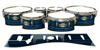 Tama Marching Tenor Drum Slips - Blue Horizon Stripes (Blue)
