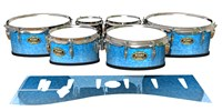 Tama Marching Tenor Drum Slips - Blue Ice (Blue)
