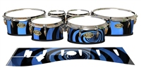 Tama Marching Tenor Drum Slips - Blue Vortex Illusion (Themed)