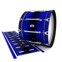 Yamaha 8200 Field Corps Bass Drum Slip - Andromeda Blue Rosewood (Blue)