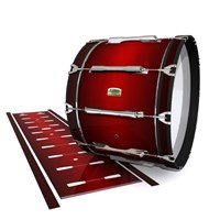 Yamaha 8200 Field Corps Bass Drum Slip - Apple Maple Fade (Red)