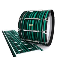Yamaha 8200 Field Corps Bass Drum Slip - Aqua Horizon Stripes (Aqua)