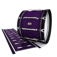 Yamaha 8200 Field Corps Bass Drum Slip - Black Cherry (Purple)