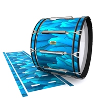 Yamaha 8200 Field Corps Bass Drum Slip - Blue Feathers (Themed)
