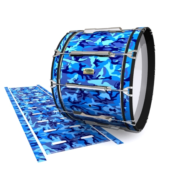 Yamaha 8200 Field Corps Bass Drum Slip - Blue Wing Traditional Camouflage (Blue)