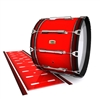 Yamaha 8200 Field Corps Bass Drum Slip - Cherry Pickin' Red (Red)