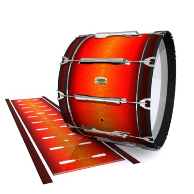Yamaha 8200 Field Corps Bass Drum Slip - Coral Sunset (Orange)