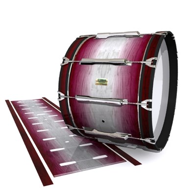 Yamaha 8200 Field Corps Bass Drum Slip - Cranberry Stain (Red)