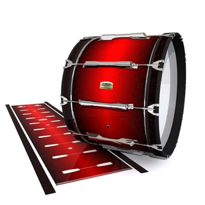 Yamaha 8200 Field Corps Bass Drum Slip - Dragon Red (Red)
