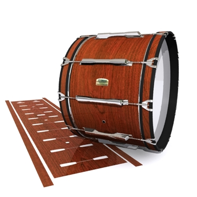 Yamaha 8200 Field Corps Bass Drum Slip - French Mahogany (Neutral)