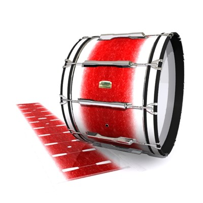 Yamaha 8200 Field Corps Bass Drum Slip - Frosty Red (Red)