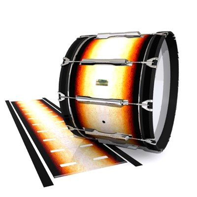 Yamaha 8200 Field Corps Bass Drum Slip - Historic Dawn (Orange)