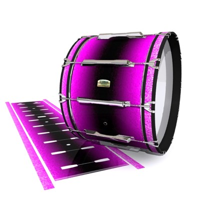 Yamaha 8200 Field Corps Bass Drum Slip - Imperial Purple Fade (Purple) (Pink)