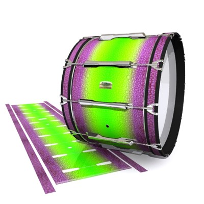 Yamaha 8200 Field Corps Bass Drum Slip - Joker Drop Fade (Purple) (Green)