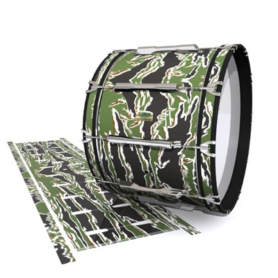 Yamaha 8200 Field Corps Bass Drum Slip - Liberator Tiger Camouflage (Green)