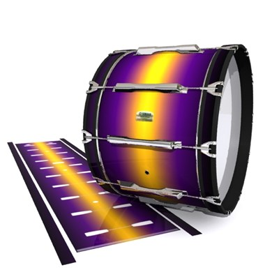 Yamaha 8200 Field Corps Bass Drum Slip - Light Barrier Fade (Purple) (Yellow)