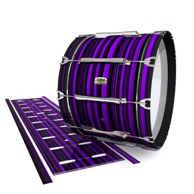Yamaha 8200 Field Corps Bass Drum Slip - Purple Horizon Stripes (Purple)