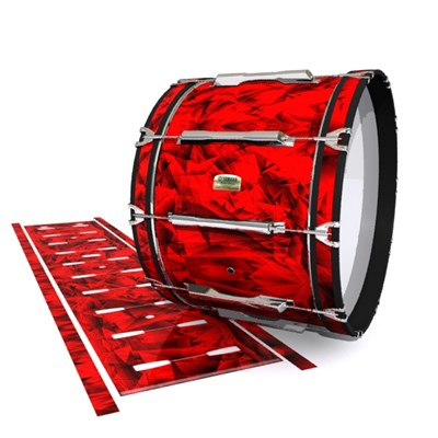 Yamaha 8200 Field Corps Bass Drum Slip - Red Cosmic Glass (Red)
