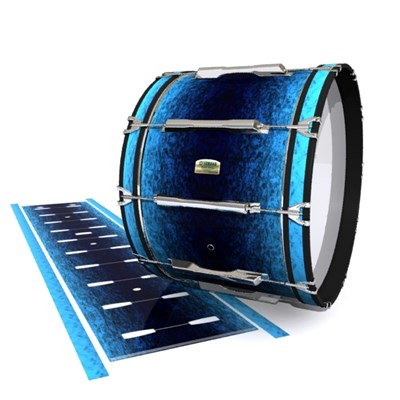 Yamaha 8200 Field Corps Bass Drum Slip - Rocky Sea (Blue)