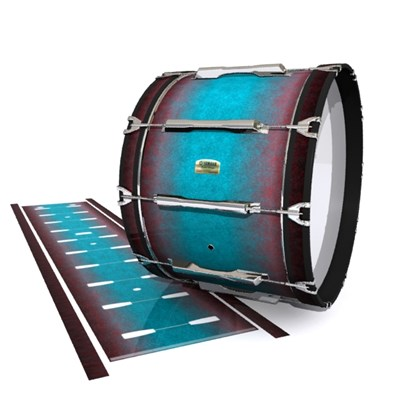 Yamaha 8200 Field Corps Bass Drum Slip - Shark Attack (Aqua) (Red)