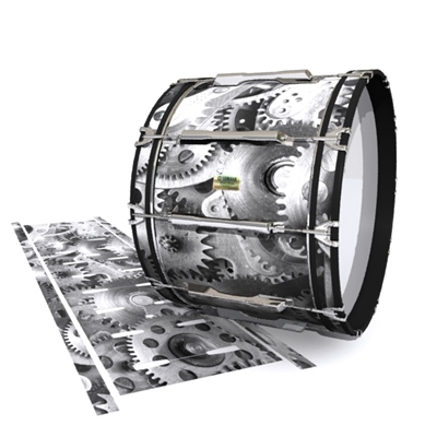Yamaha 8200 Field Corps Bass Drum Slip - Silver Gears(Themed)