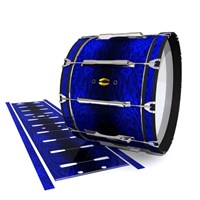 Yamaha 8300 Field Corps Bass Drum Slip - Andromeda Blue Rosewood (Blue)